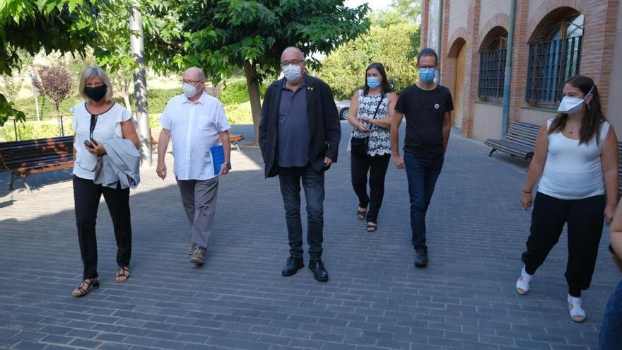 Bargalló visita el terreny on s'ubicarà l'institut de Vilafant
