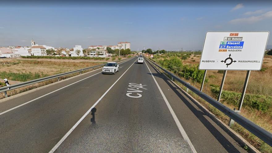 El Consell invierte 12 millones en duplicar la carretera de la Gombalda entre Museros y Massamagrell