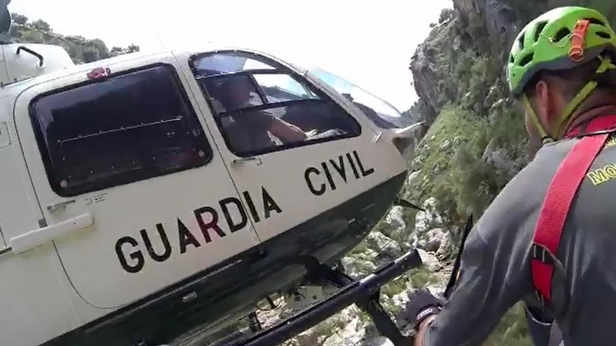 Imagen de archivo de un rescate en montaña