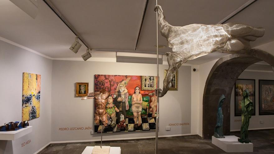 El arte canario homenajea a Félix Reyes en la Fundación La Caja de Canarias
