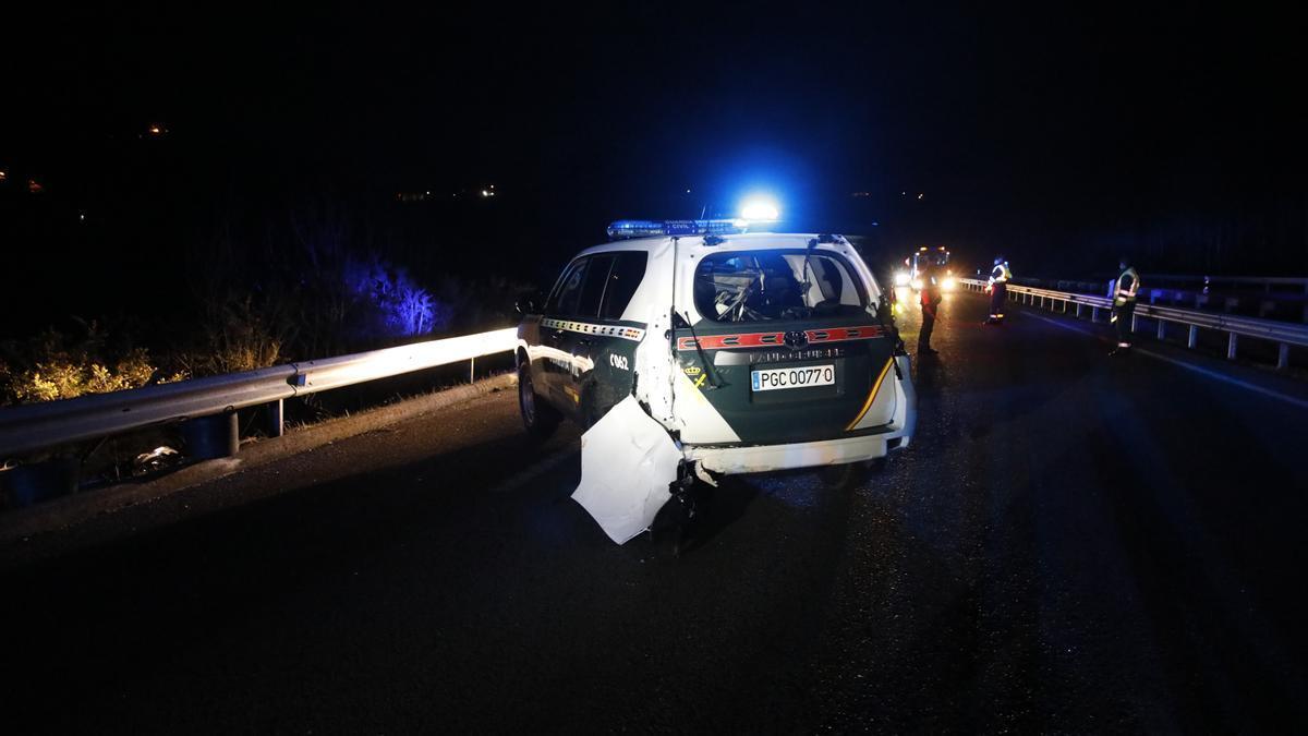 Muere un guardia civil arrollado por una furgoneta en la Autovía Minera