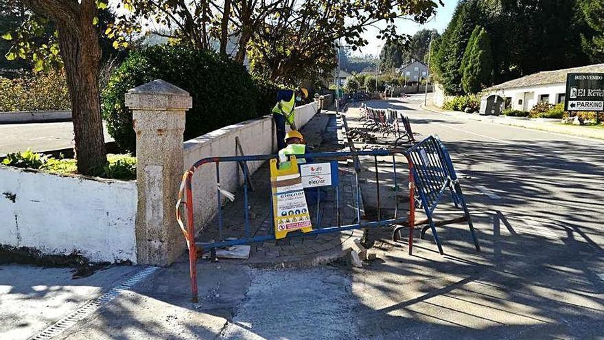 Sanxenxo inicia la obra de soterramiento de la línea de media tensión de O Revel