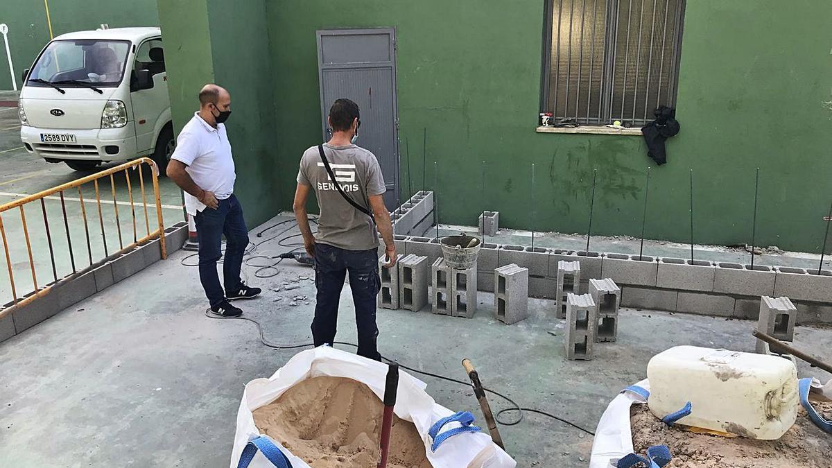 visita a la zona de obras del alcalde Paco Gómez.