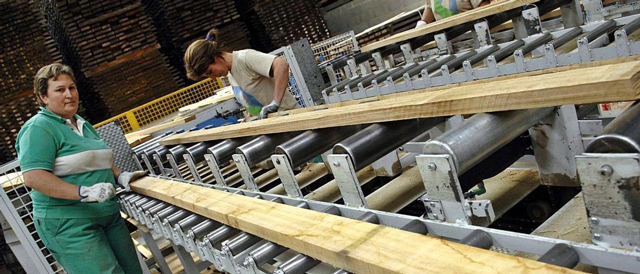 Una empresa de madera, en Lugo