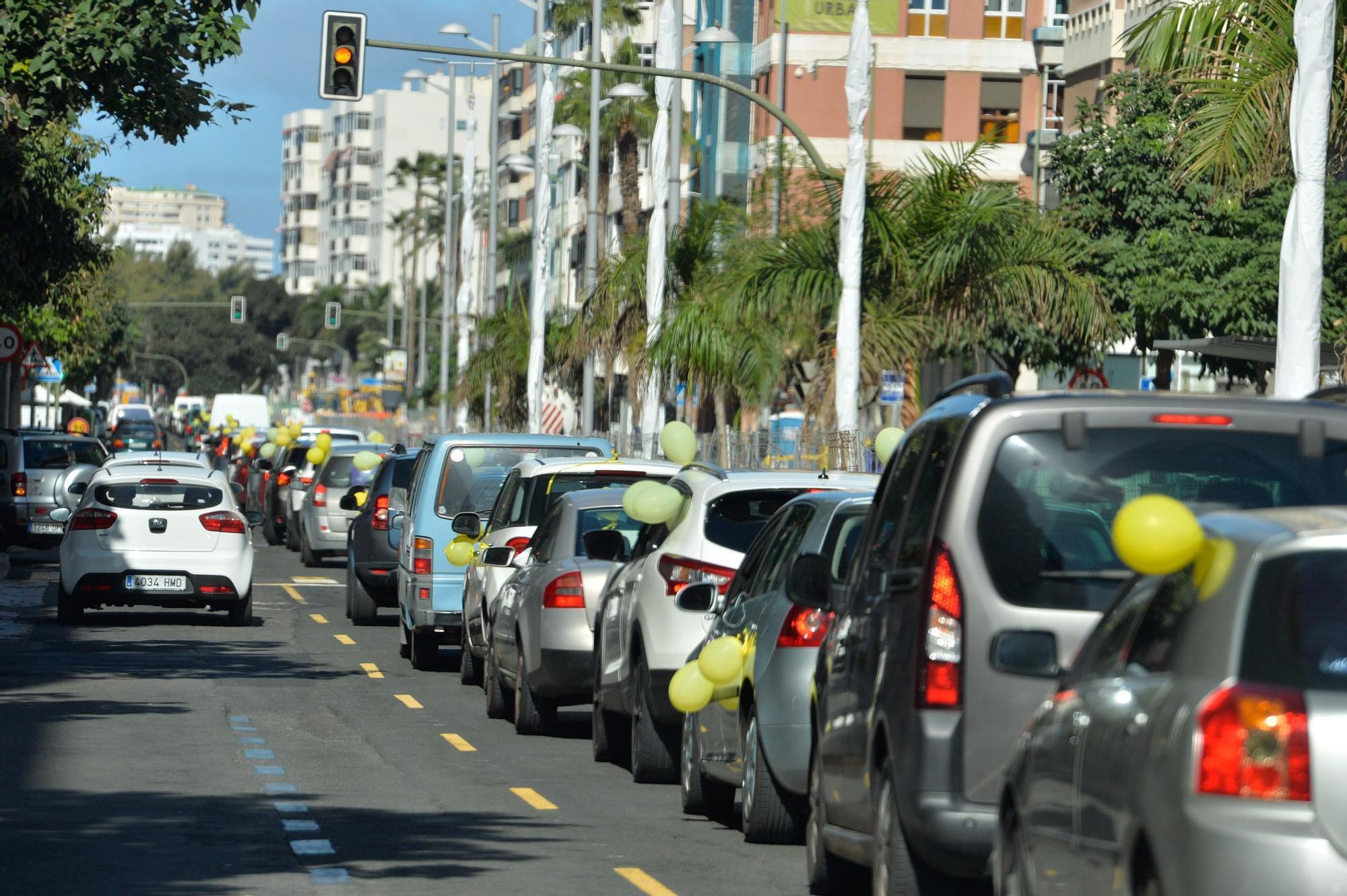 Caravana de interinos en Las Palmas de Gran Canaria