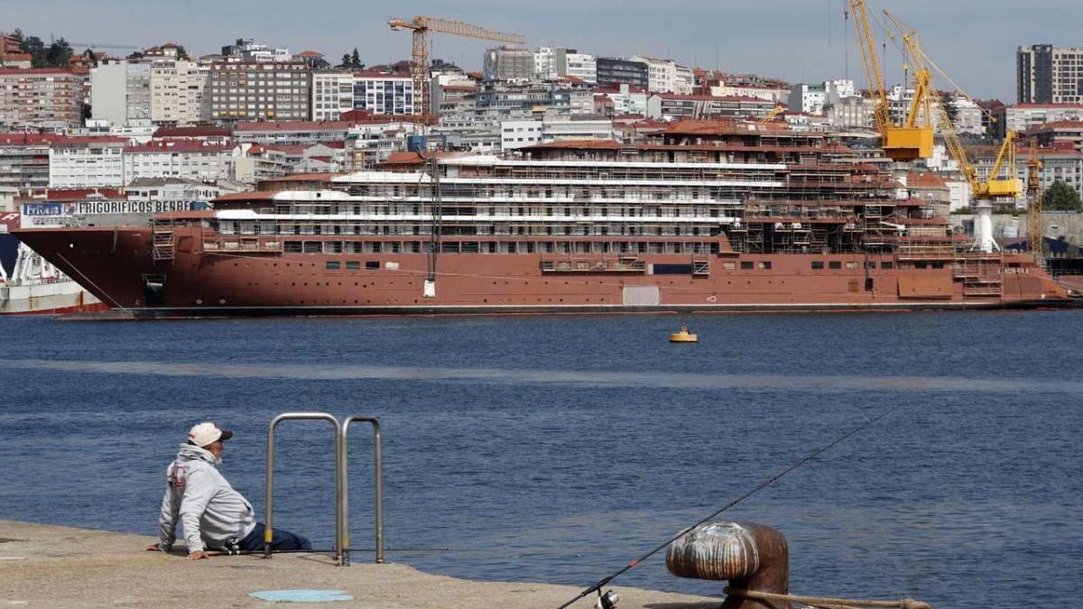 Imagen del astillero vigués de Barreras. // FdV