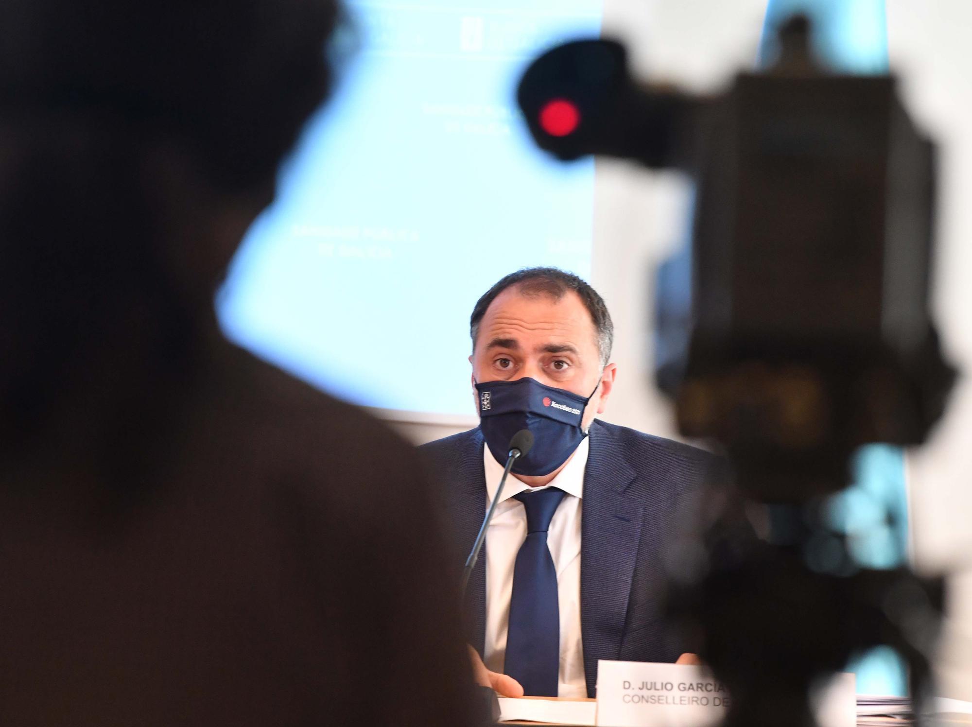 Comparecencia del conselleiro de Sanidade tras la reunión del comité clínico