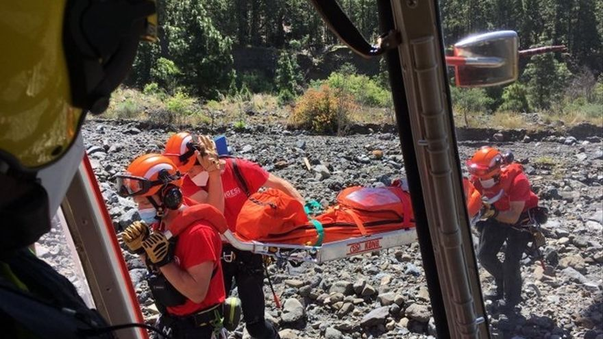 Una senderista resulta herida al sufrir una caída en la Caldera de Taburiente