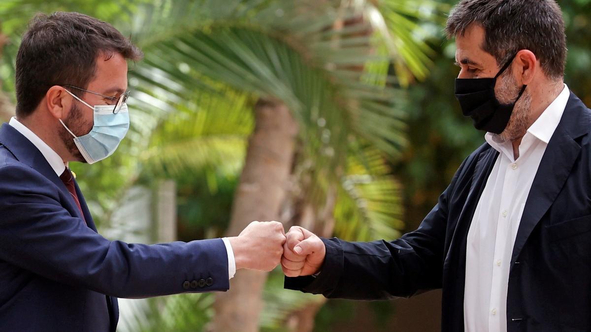 Pere Aragonès i Jordi Sanchez