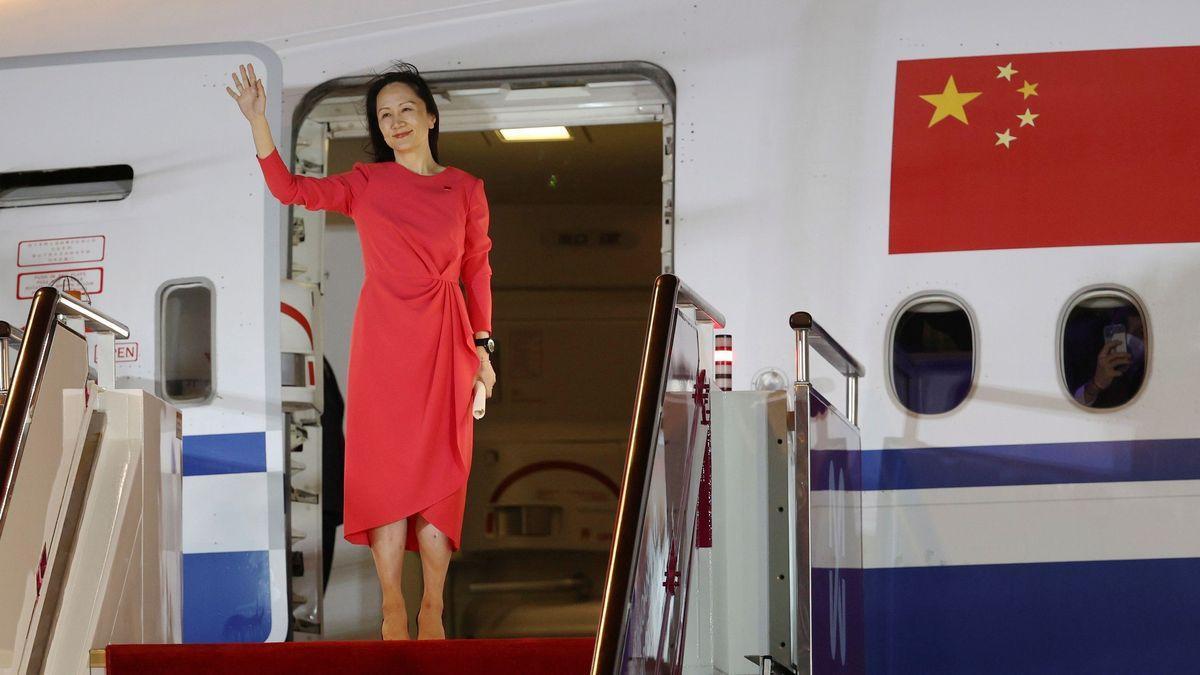 Meng Wanzhou, a su llegada a China.