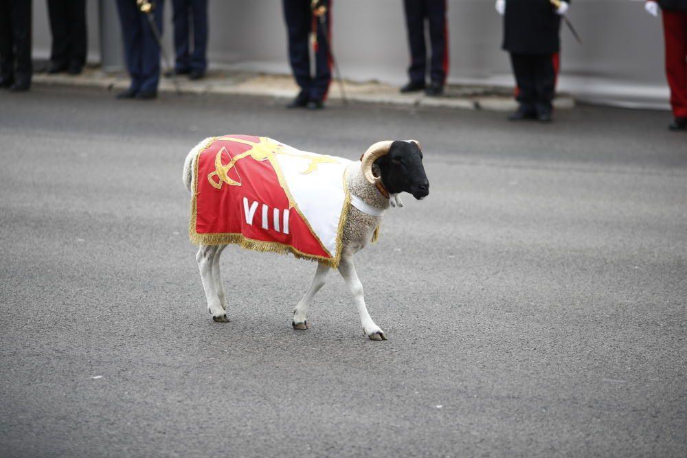 La cabra de la Legión en el desfile del 12 de ...