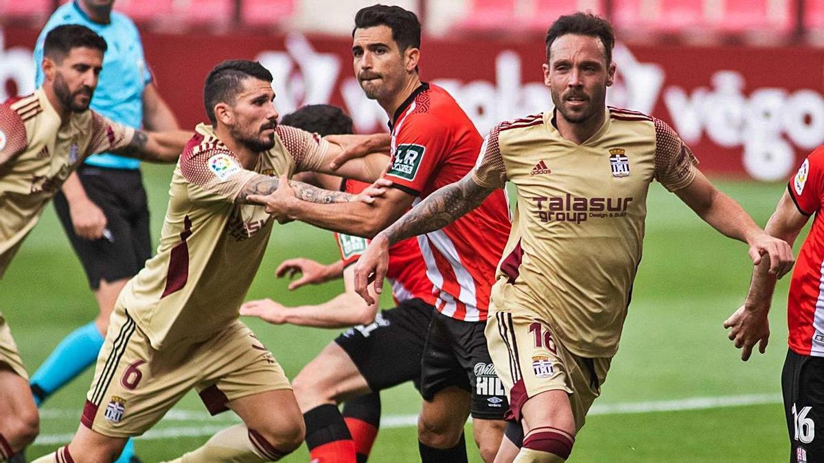 José Ángel en el duelo ante el Logroñés en Las Gaunas. | PRENSA FC CARTAGENA
