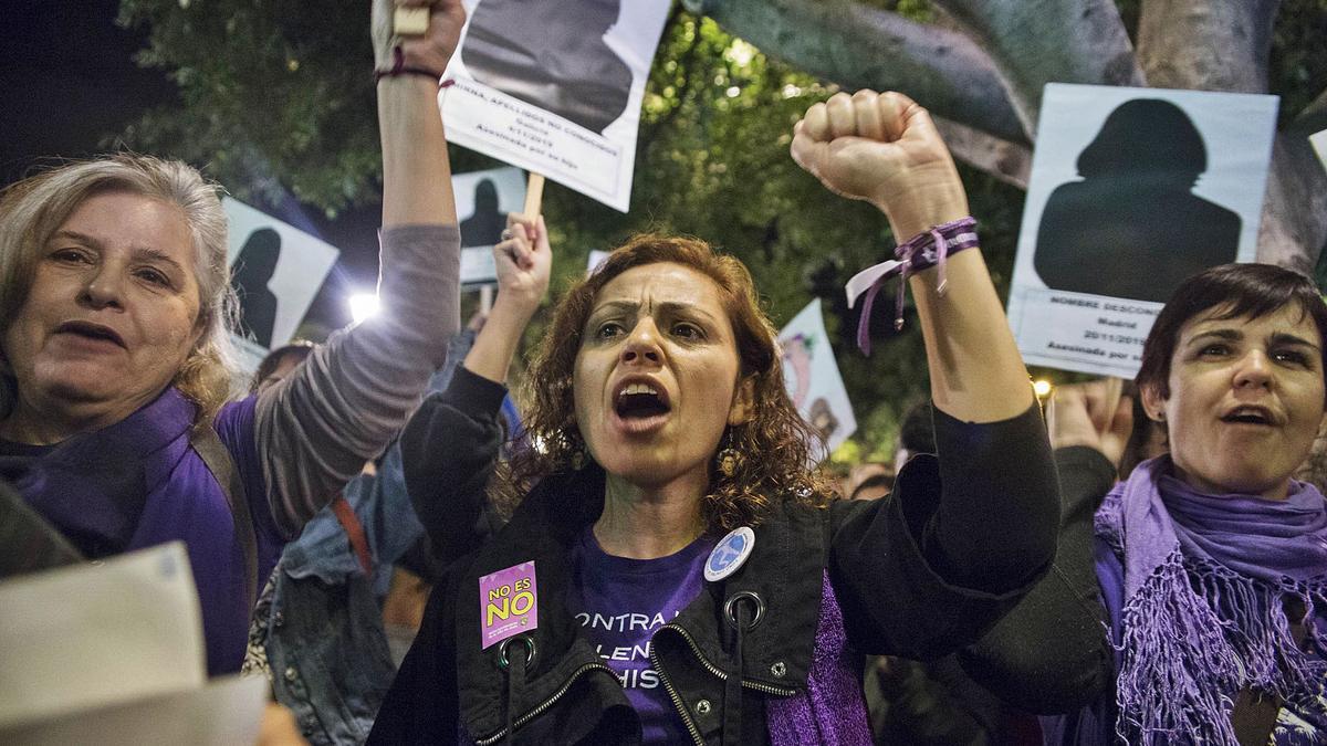 Foto de archivo de una concentración contra la violencia machista. | | DELIA PADRÓN