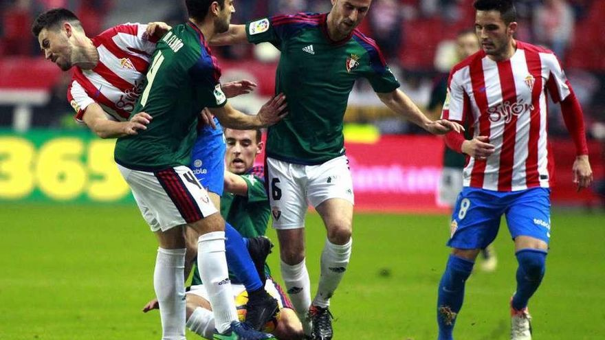 El Sporting respira a costa de Osasuna