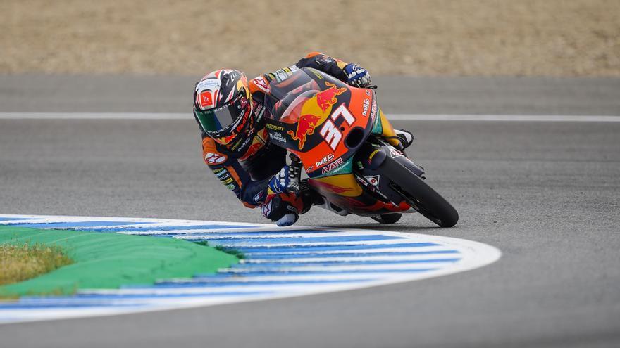 Pedro Acosta, ganador de Moto3 2021 en el circuito de Jerez