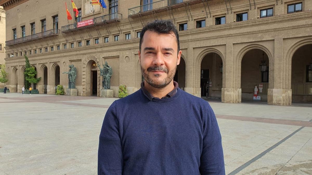 El presidente de CHA-Zaragoza, Chuaquín Bernal.