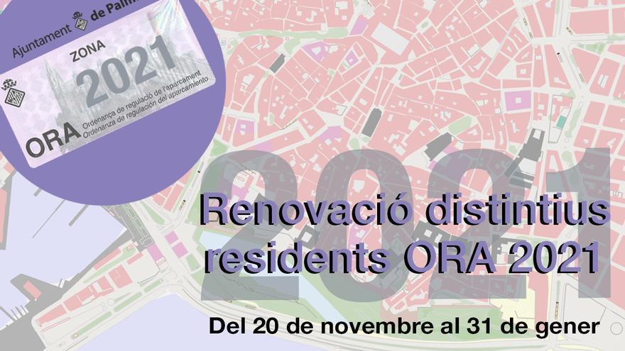 Palma comienza la campaña de renovación de distintivos de la ORA