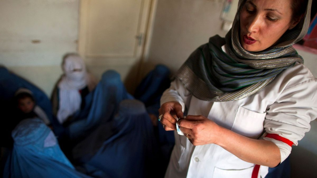 Mujeres en Kabul.