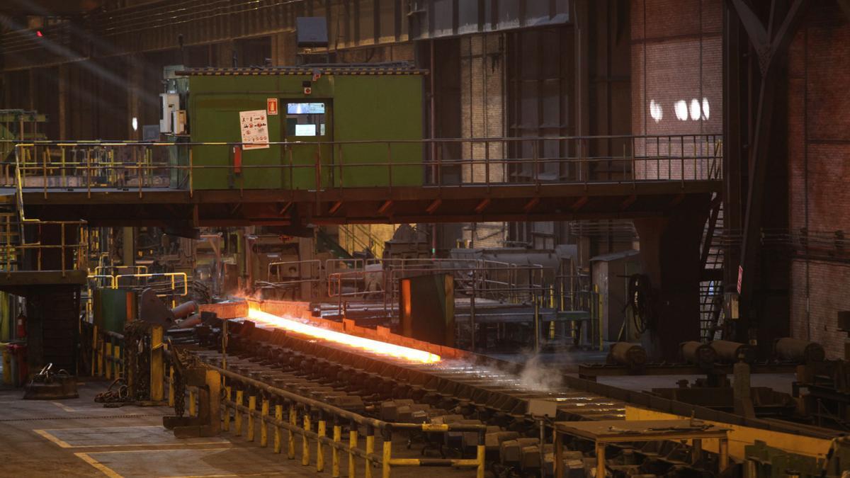 Instalaciones de la factoría d'ArcelorMittal en Veriña.