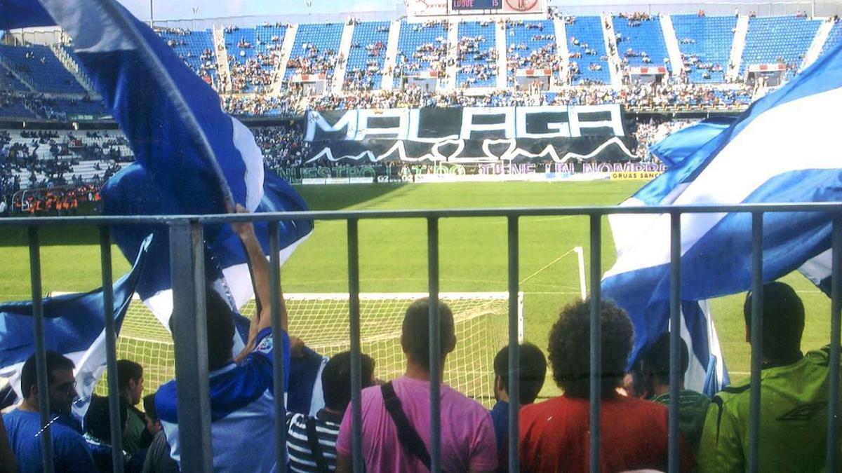 Imagen de un partido de La Rosaleda