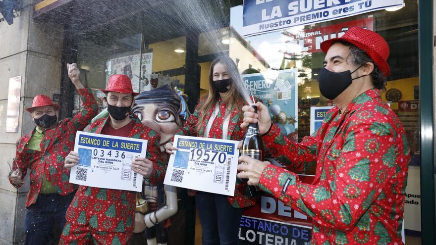 Oviedo se lleva 5 décimos del primer premio de la Lotería del Niño