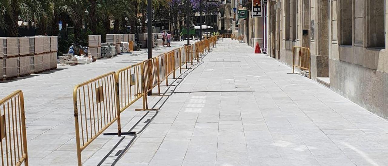 Tramo de la Explanada donde ya se pondrán instalar mesas y sillas