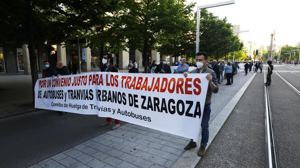 Manifestación de los trabajadores de Avanza el pasado mes de abril.