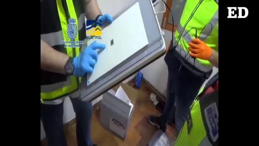 Desmantelan en Canarias una imprenta para hacer billetes falsos de 20 y 50 euros