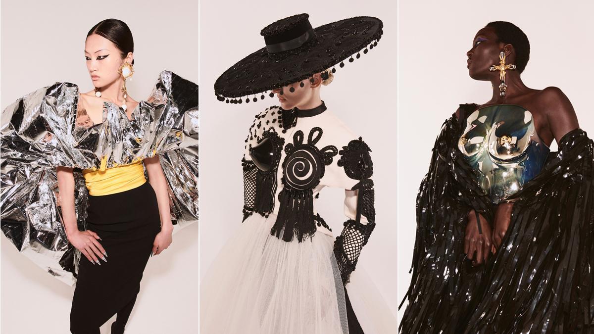 Los modelos de Schiaparelli y Azzaro abre la Semana de la moda de París.