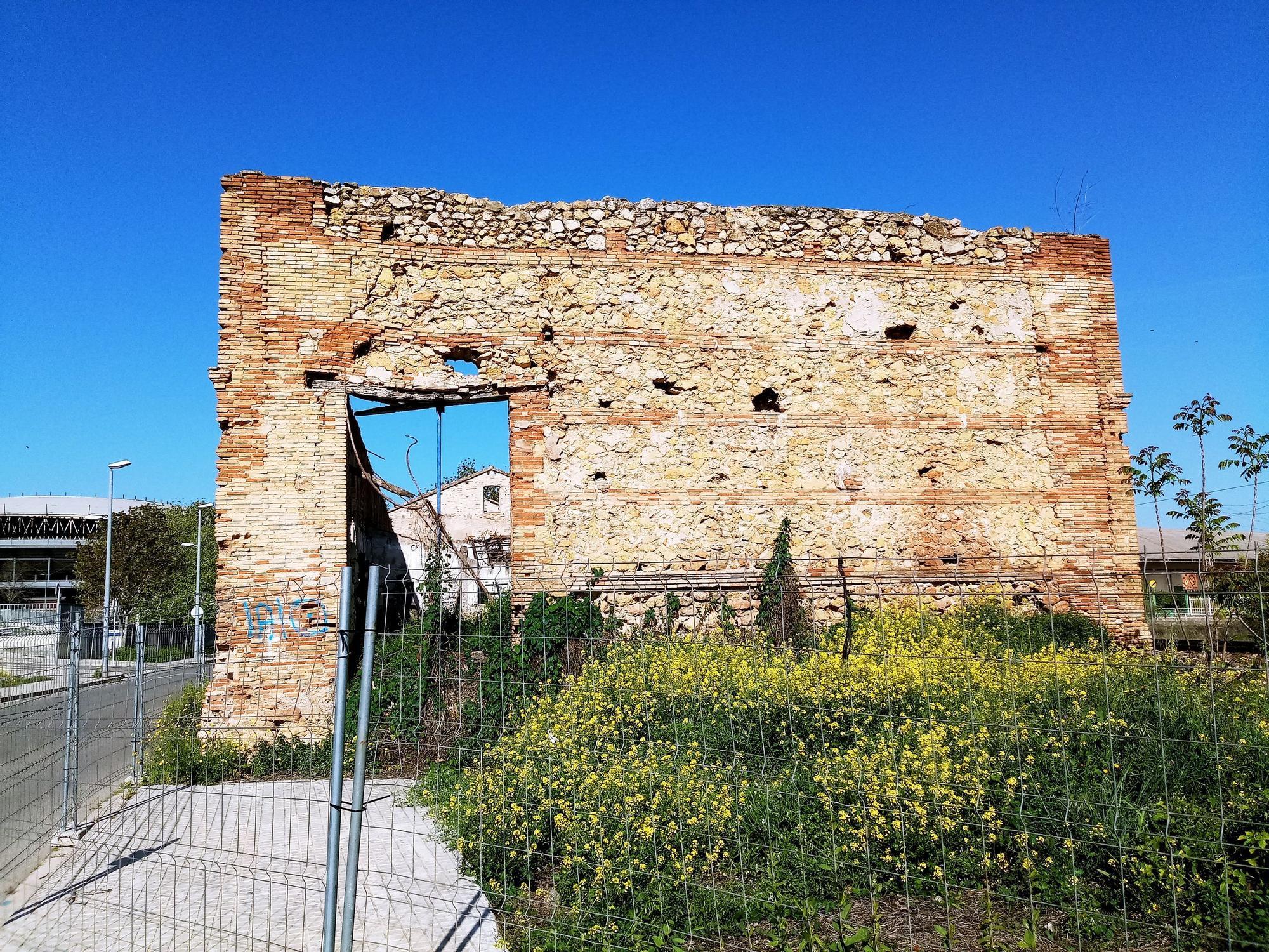 Estado de la antigua estación de trenes de Xàtiva