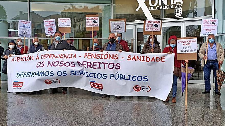 Protesta en Vigo por la atención a la dependencia