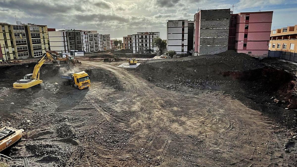 El desmonte de Las Chumberas llega a su cota de cimentación   E.D.