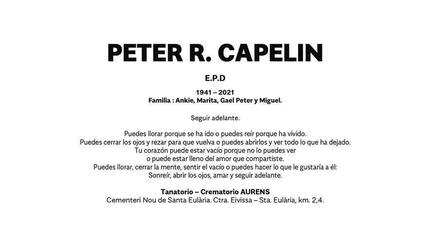 Esquela Peter R. Capelin
