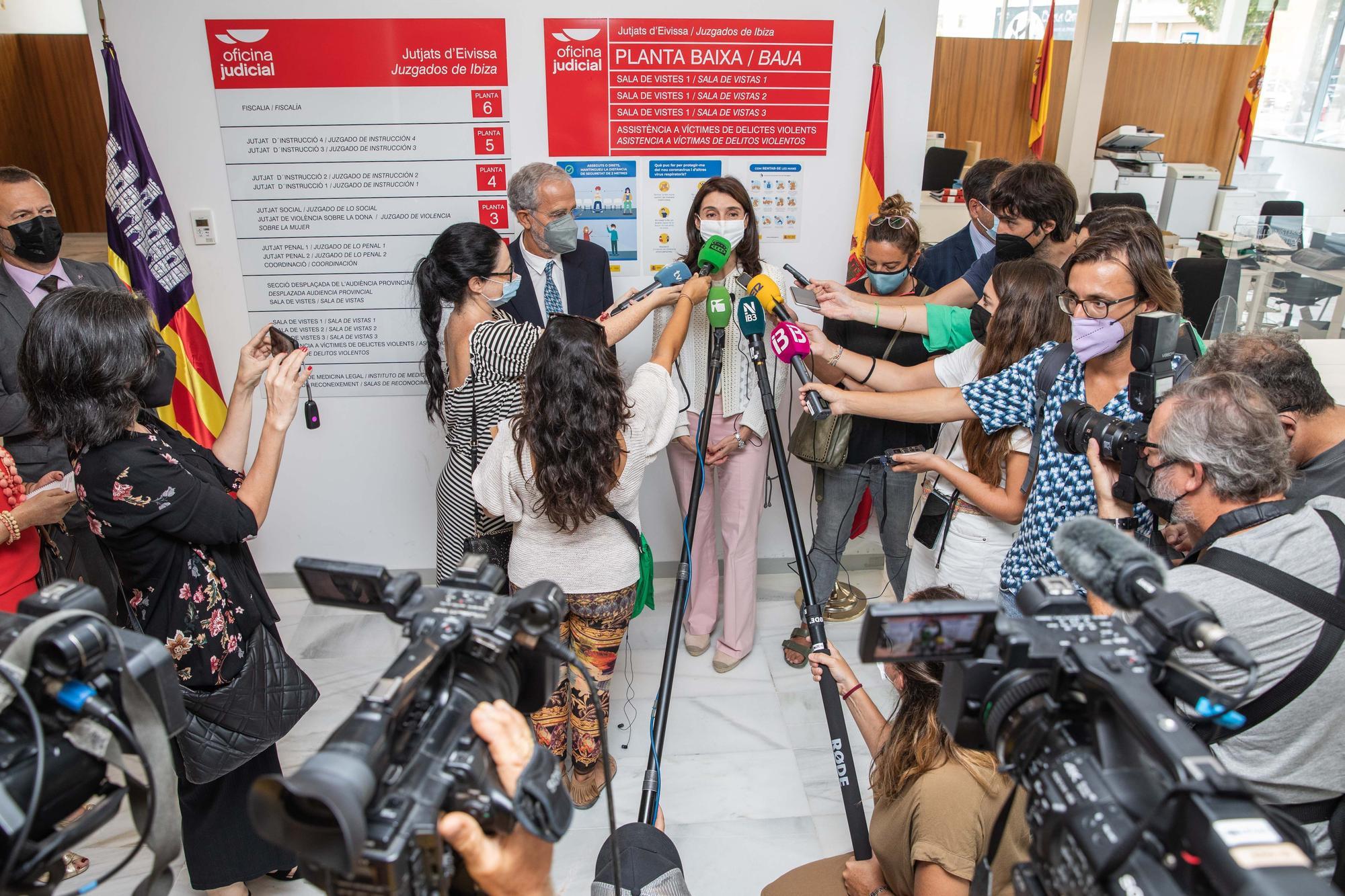 Visita de la ministra de justicia Pilar Llop a los Juzgados de Ibiza