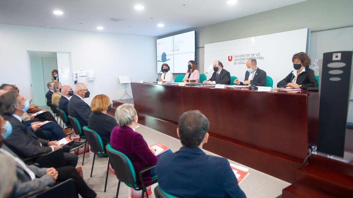 Inauguració del curs acadèmic de la Universitat de Vic-Universitat Central de Catalunya