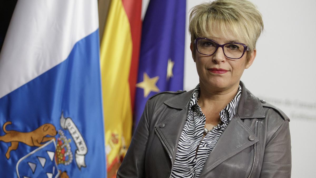 La consejera de Economía del Gobierno de Canarias, Elena Máñez.