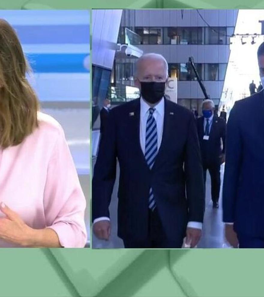 """Ana Rosa, estupefacta ante el breve encuentro de Sánchez con Biden: """"Lo que no se puede es mentir"""""""