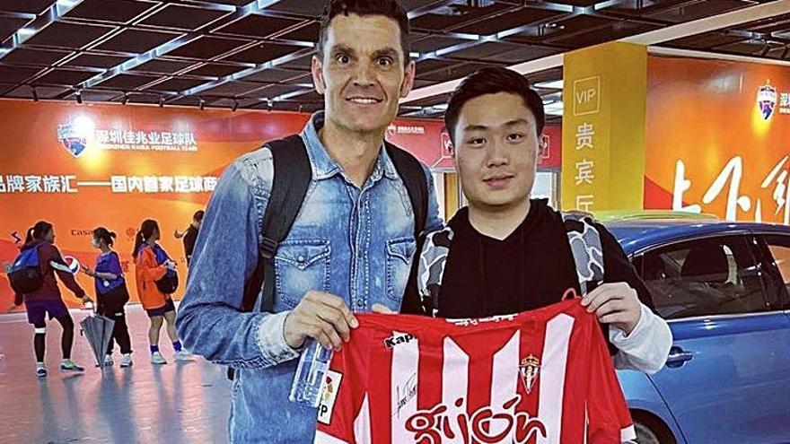 El exrojiblanco Juan Pablo lleva el sportinguismo a China