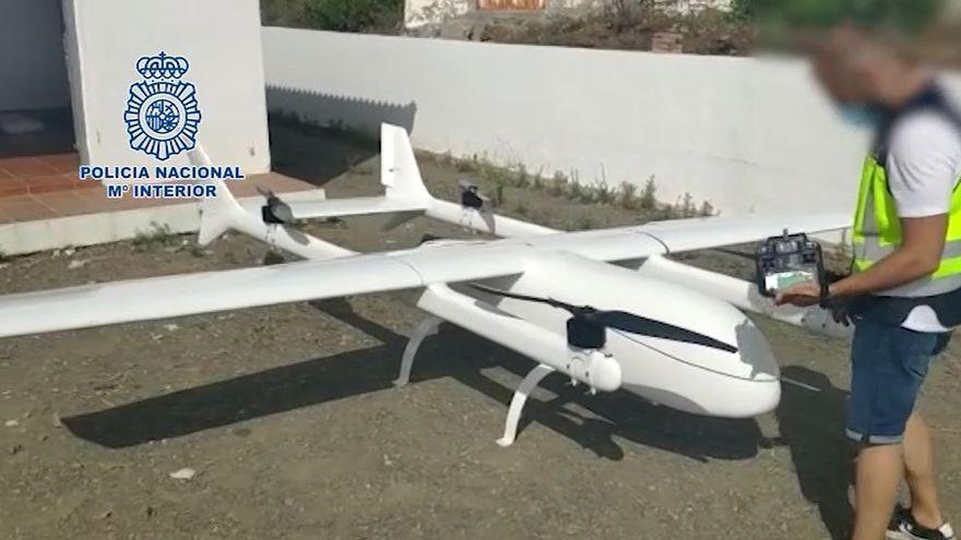 Localizan en Málaga el dron más grande intervenido a un grupo de narcos en España