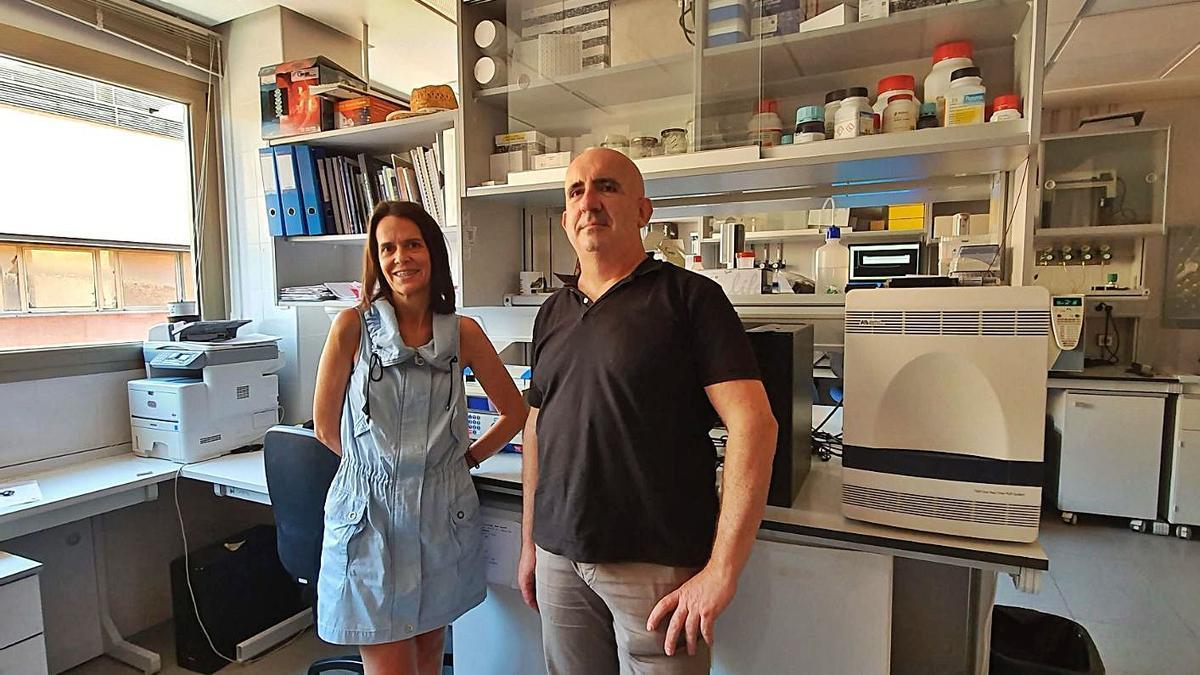 Los investigadores Margarita Ros y José Antonio Pascual, del CEBAS-CSIC. | L.O.