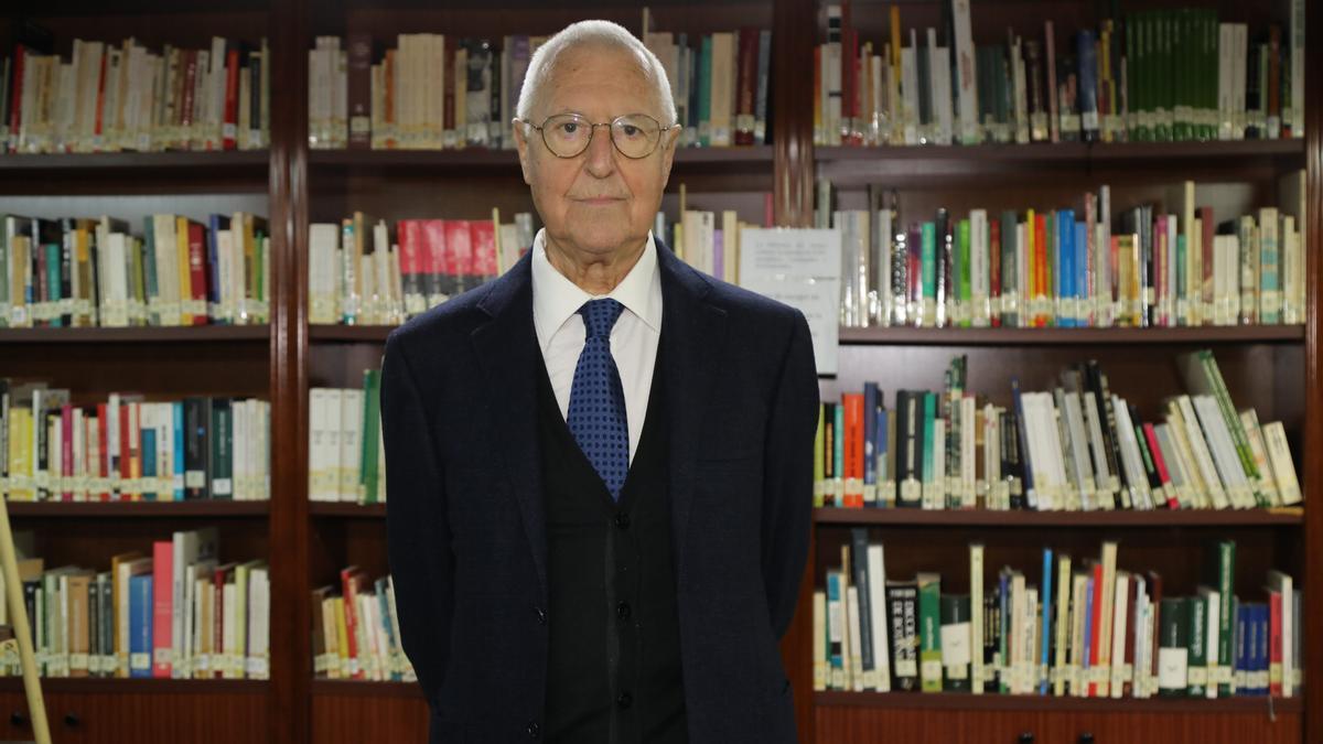 Tomás Llorens, en una reciente entrevista concedida a 'Mediterráneo'.