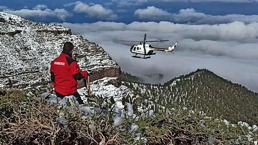 Una semana sin rastro del desaparecido en la cumbre de La Palma