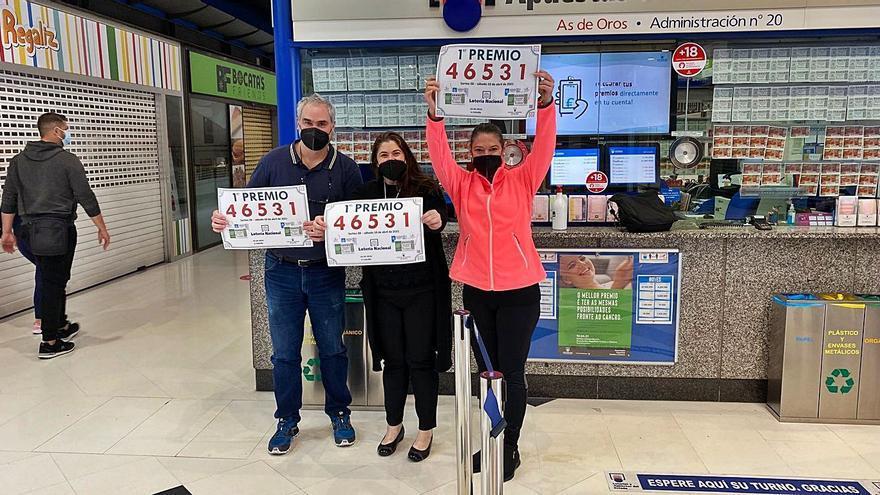 Tres administraciones sellan el primer premio de la Lotería con 150.000 euros al décimo