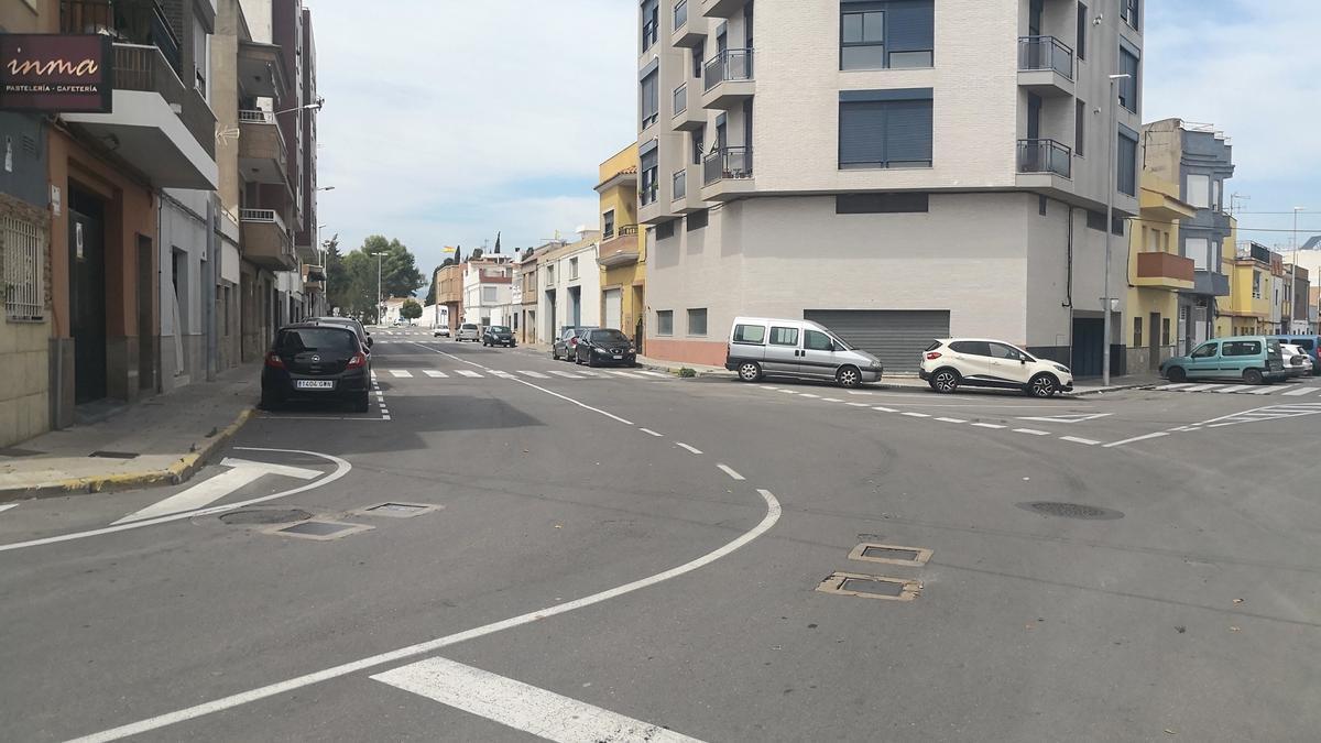 Esta es la calle Nueve Octubre del barrio Fátima, donde se acometerán las obras para evitar inundaciones.