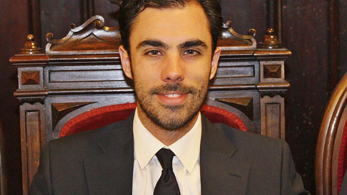 Daniel Pamplona a l'ajuntament de Girona, en una imatge d'arxiu.   MARC MARTÍ