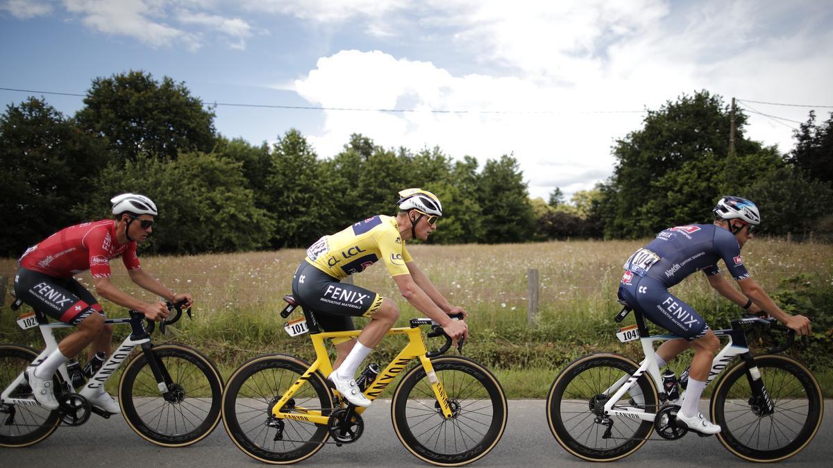 Mathieu Van der Poel en la etapa 4 del Tour de Francia.