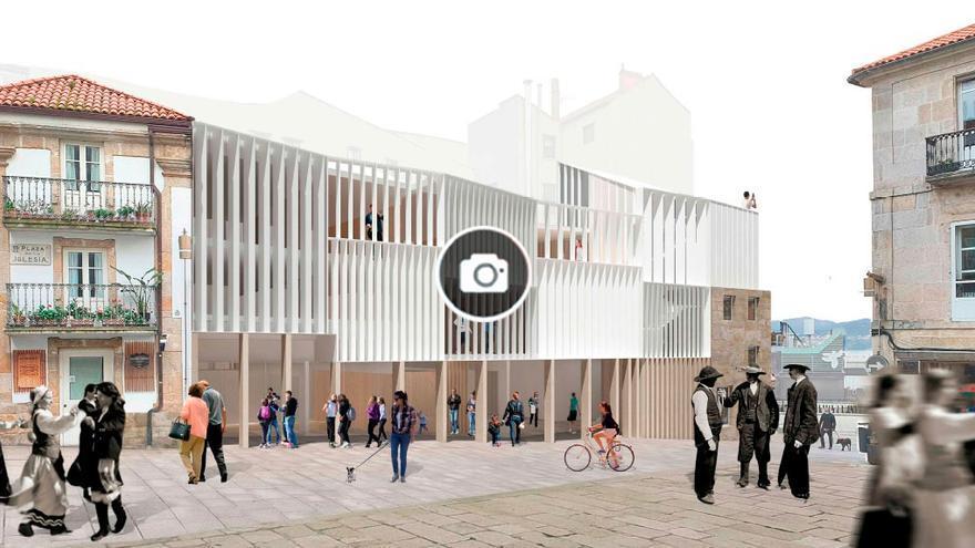 """Un edificio """"transparente y versátil"""" para la Praza da Igrexa"""