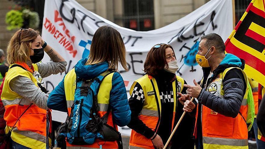 Protesta dels transportistes sanitaris privats