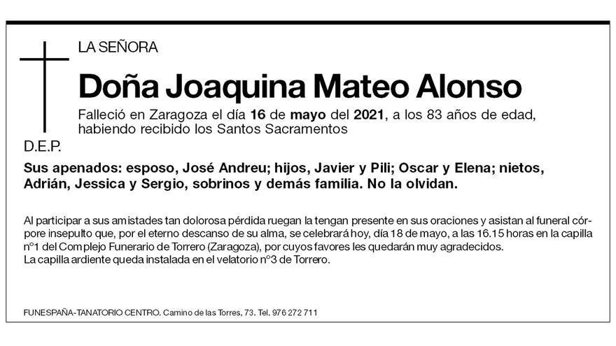 Joaquina Mateo Alonso