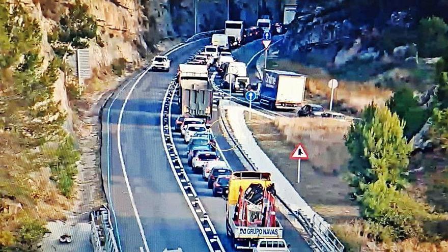 Un xoc al túnel de Bogunyà provoca retencions a la C-55